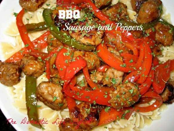These BBQ Sausage & Peppers are quick, easy and so tasty. A must try and family favorite.