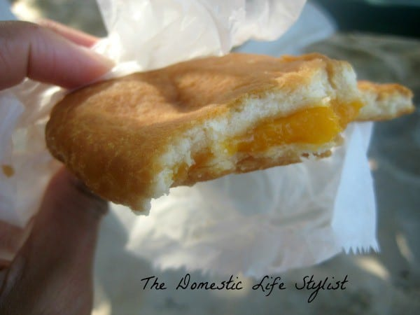 Johnny cake and cheese