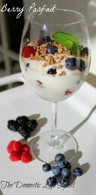 fruit parfait in glass