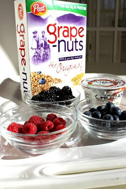 grapenuts with berries