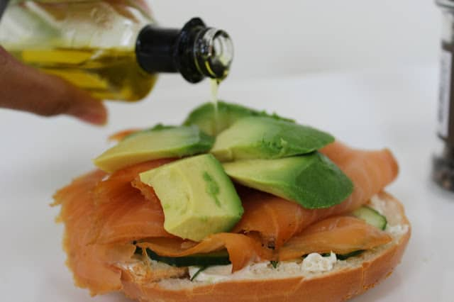 smoked salmon with avocado