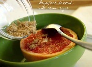 grapefruit with sugar