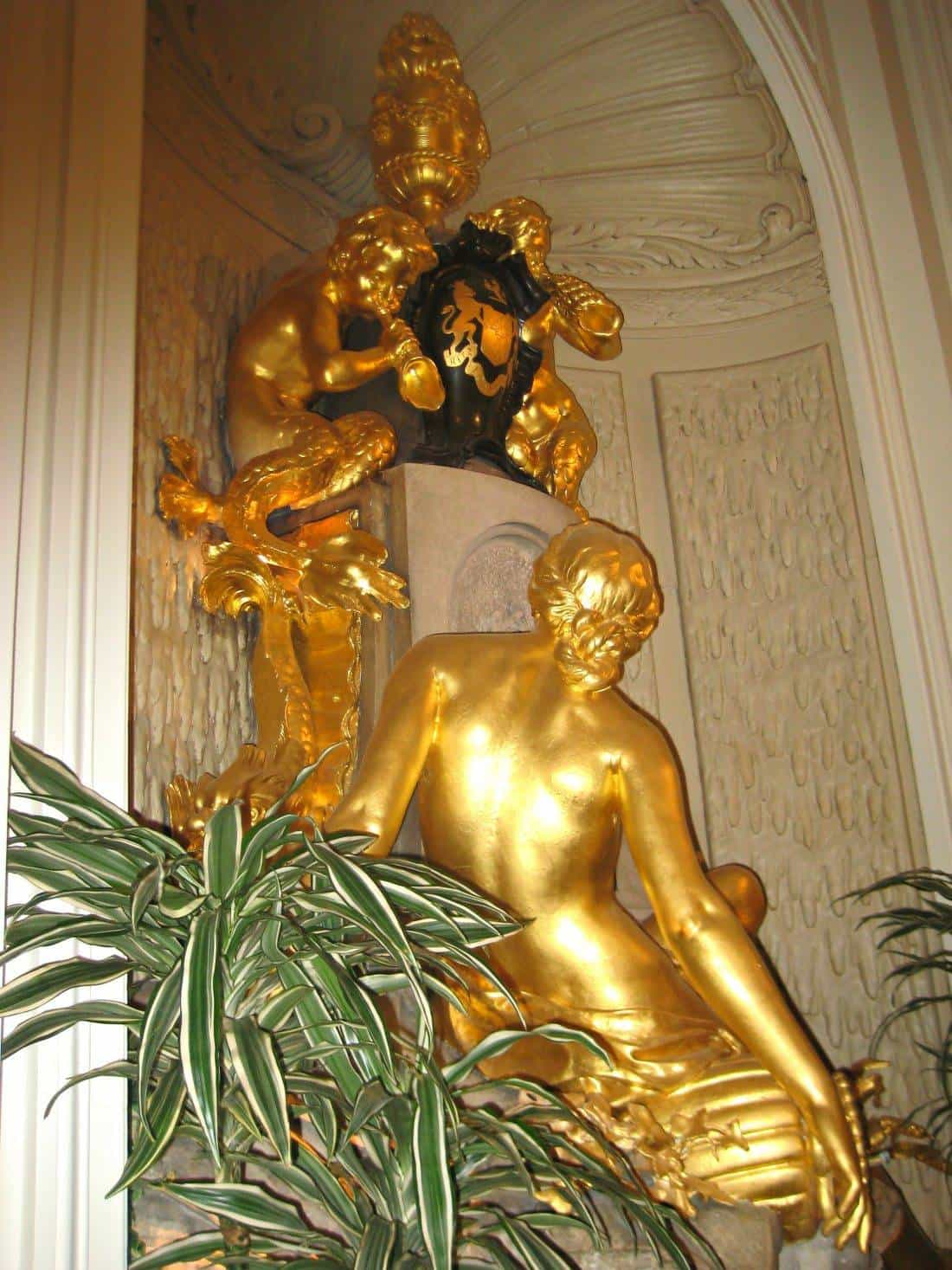 Gold statues