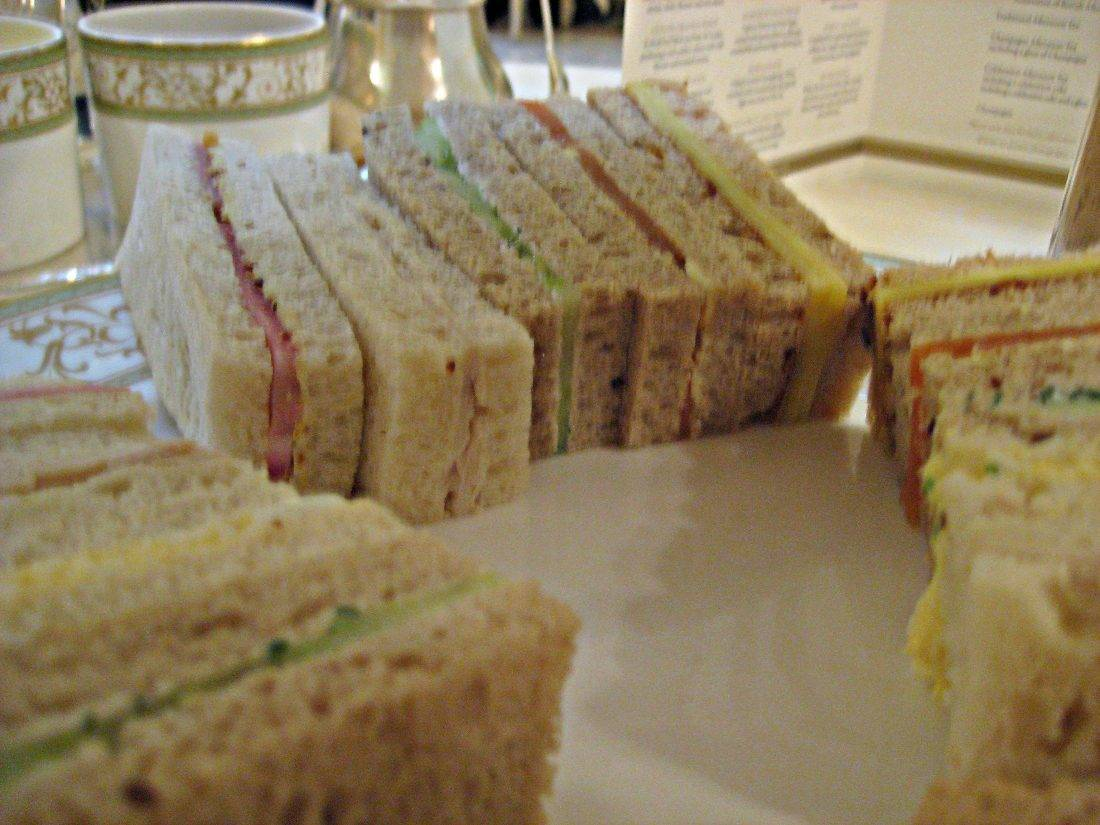 Tea sandwiches on a plate