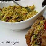 Curried Chicken Salad and sandwich