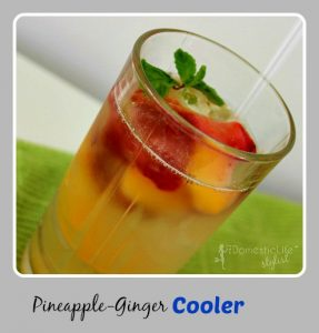 Pineapple-Ginger cooler, made with real fruit