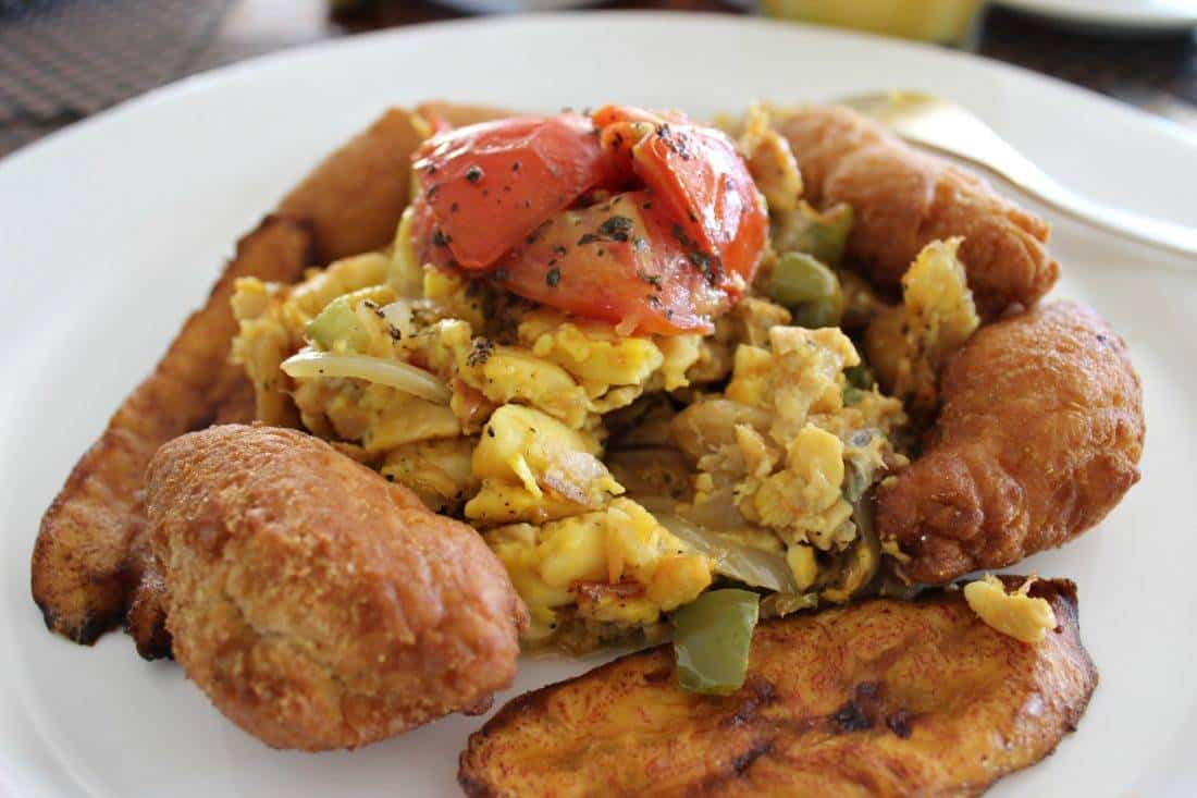 Jamaican breakast ackee and saltfish