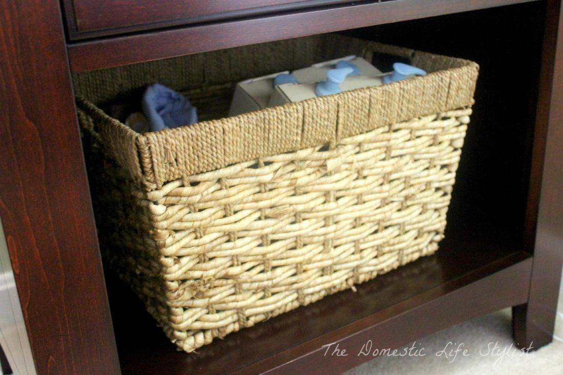Wicker tolietry basket