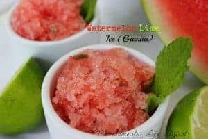 Watermelon lime ice