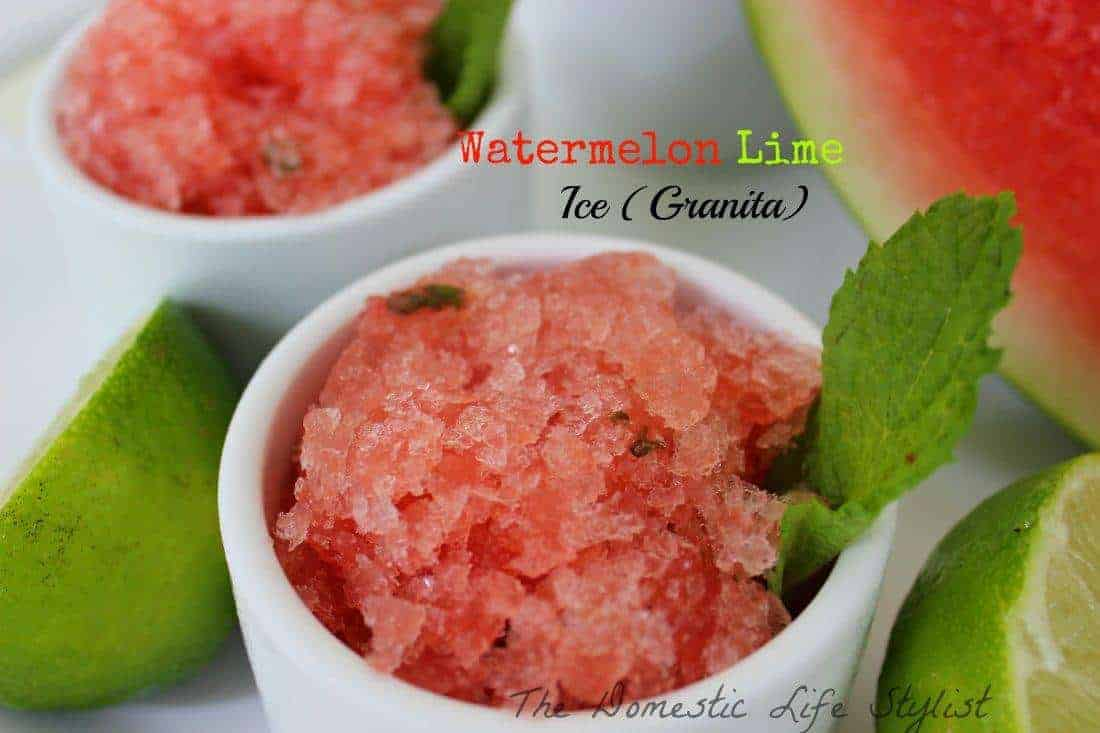 Watermelon lime ice