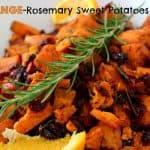 Orange and Rosemary Sweet Potatoes