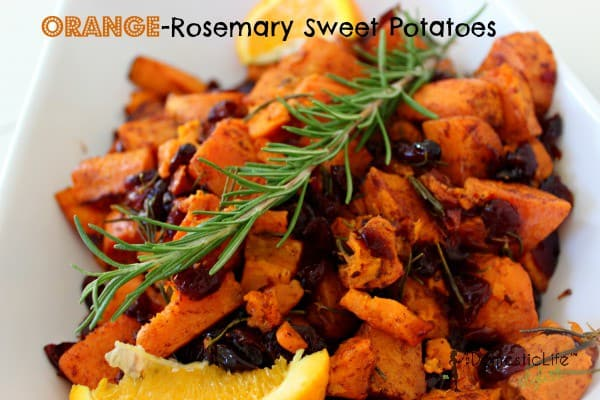 Orange Rosemary Sweet Potatoes