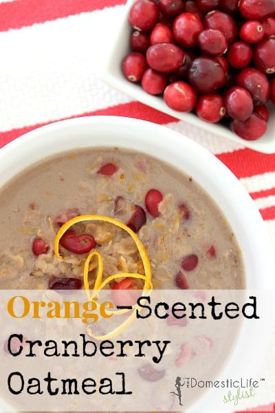 Orange scented cranberry oatmeal with real cranberries and flavors of citrus that make this oatmeal one of a kind.