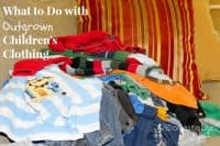 Organizing outgrown kids clothes