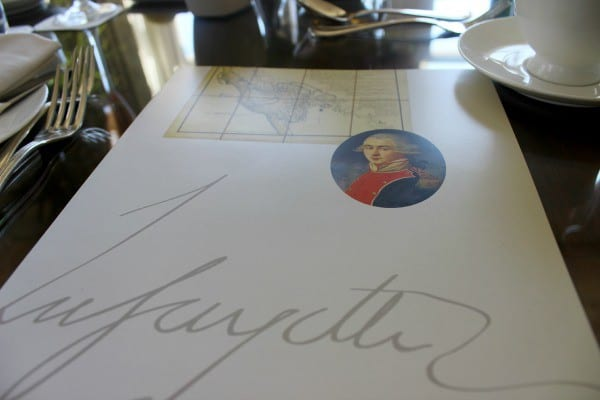 Brunch at Lafayette restaurant at the Hay Adams