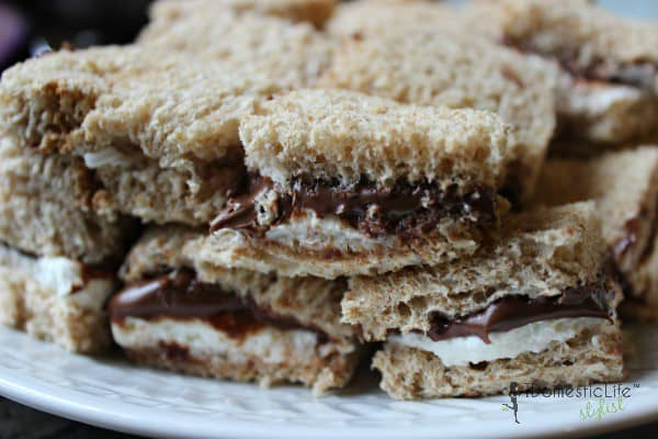 nutella and cream cheese sandwiches