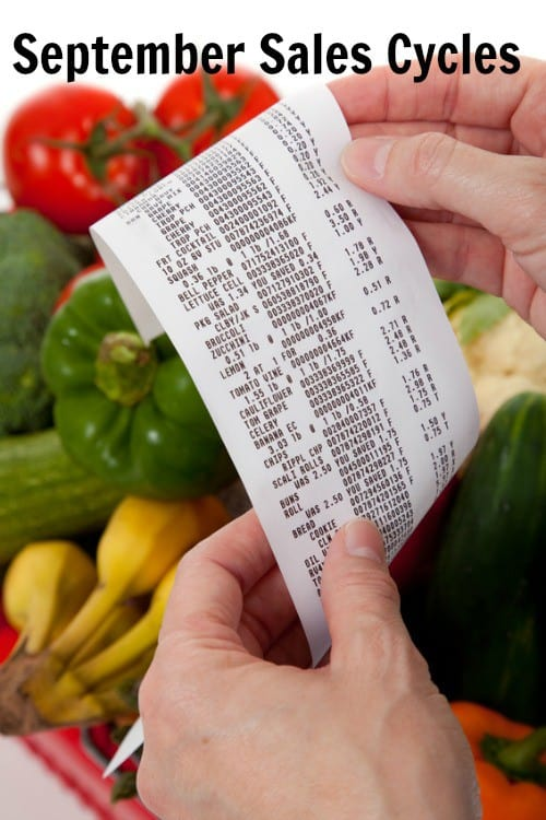 September grocery sales cycles. What to save on this month