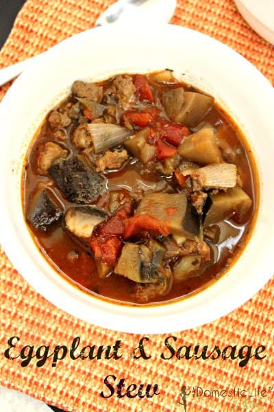 eggplant and sausage stew