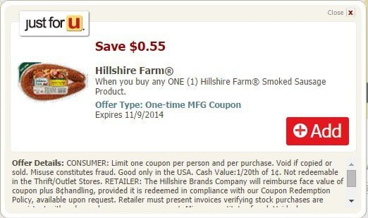 hillshire farm coupon