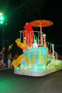 sesame place parade at night
