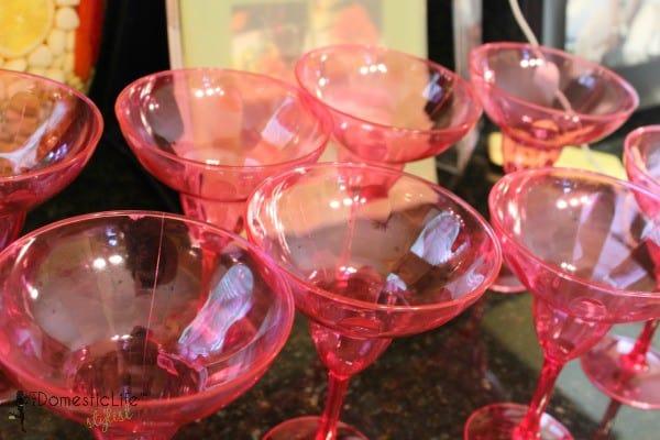 pink magarita glasses