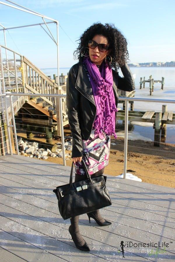 julie dillon purple dress