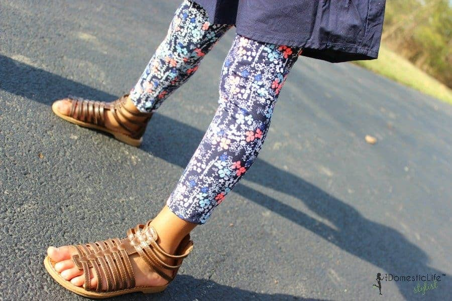 oshkosh floral girls pants