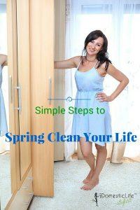 spring clean in closet