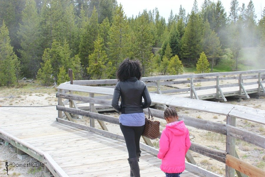 walking in yellowstone national park