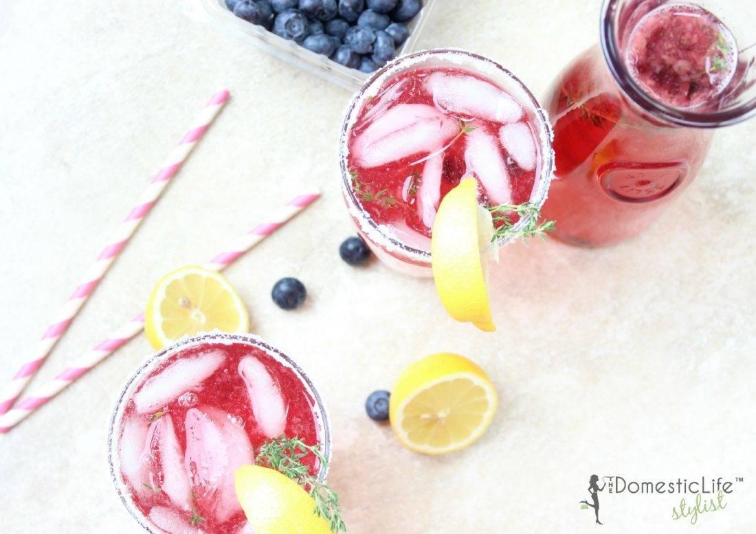 thyme blueberry lemonade