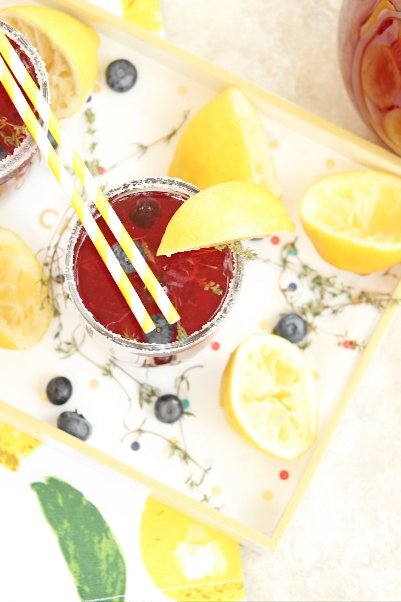 blueberry thyme lemonade, blueberry lemonade