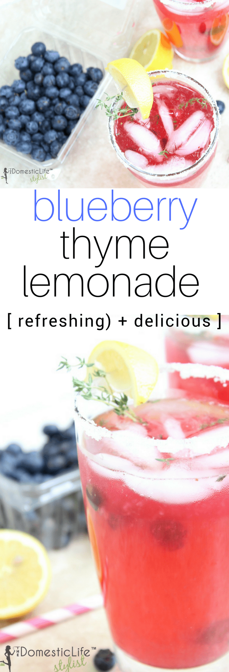 homemade blueberry thyme lemonade