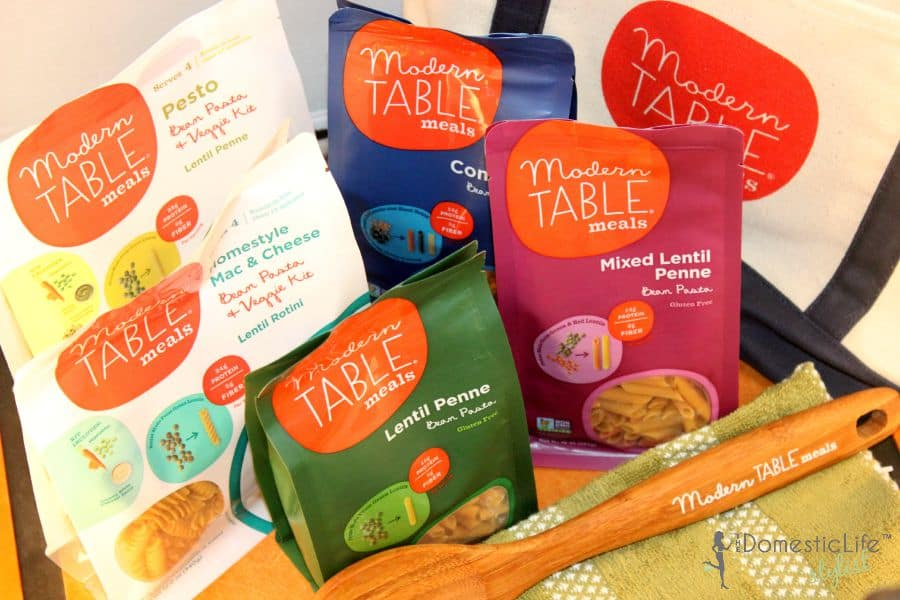 modern table meals