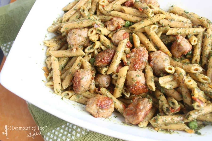 Moderntable bean and pesto pasta