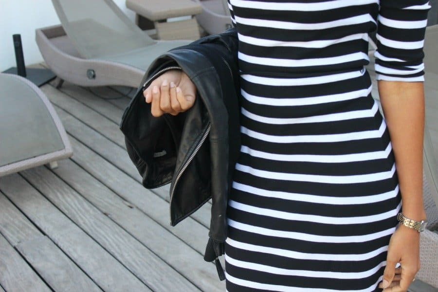 striped black and white dress1