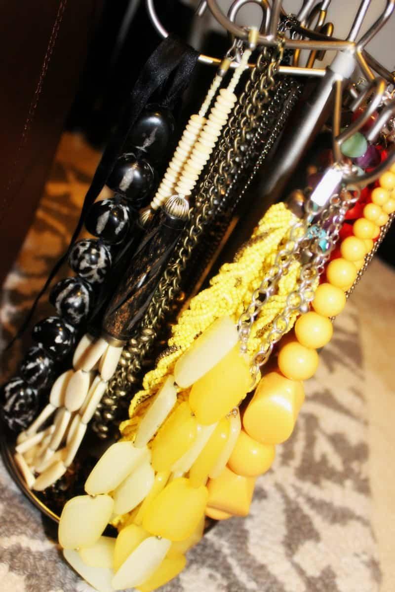 organized necklaces jewelry