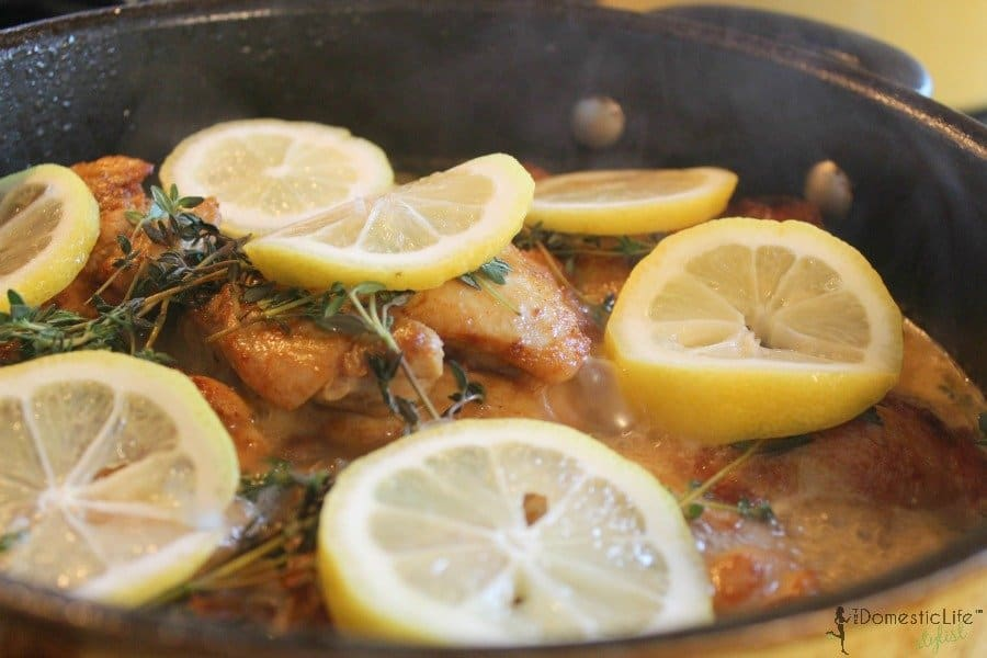lemon chicken cooking