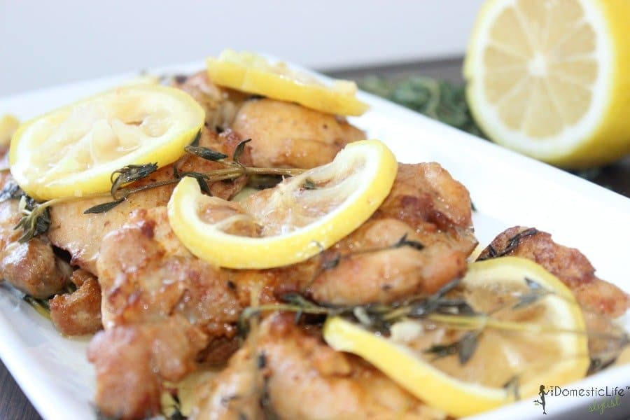 Lemon Herb Chicken | The Domestic Life Stylist™