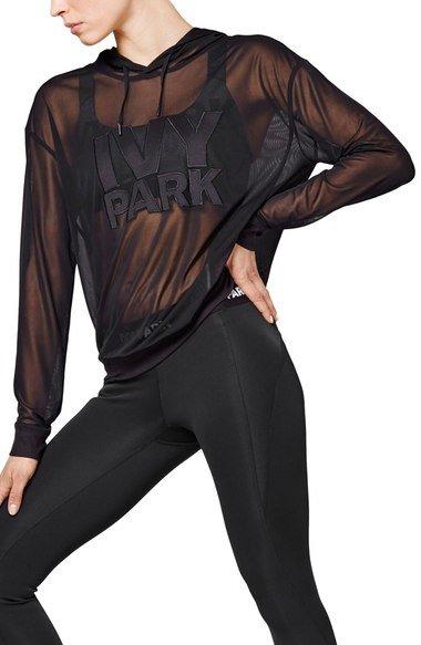 log sheer mesh shirt