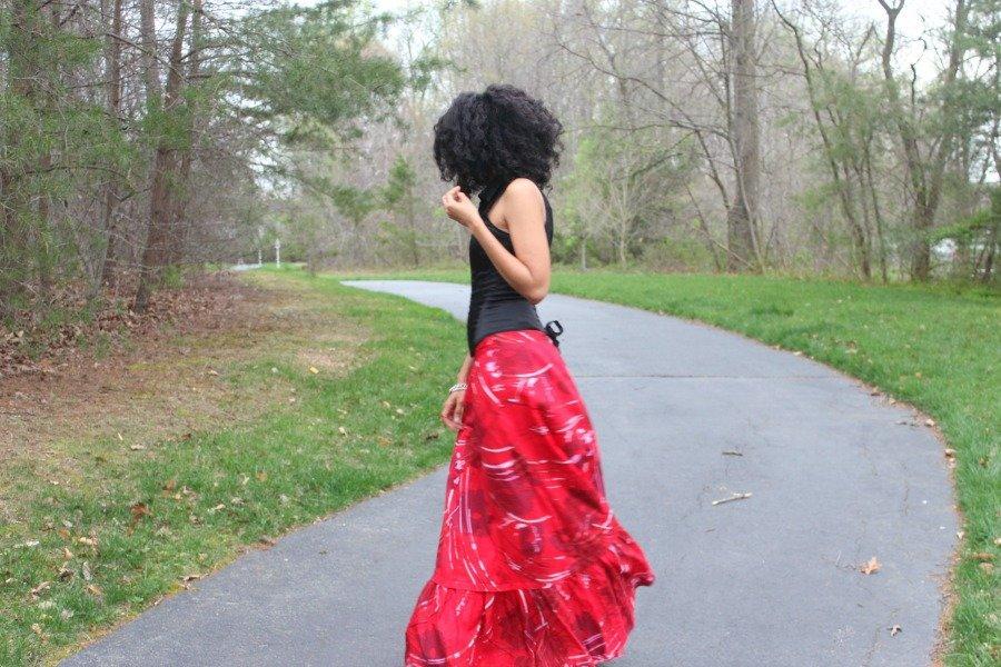 red flowy skirt 5