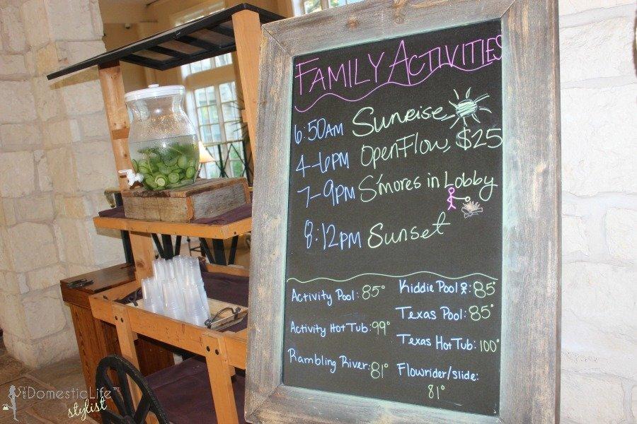 family activities at hyatt hill country