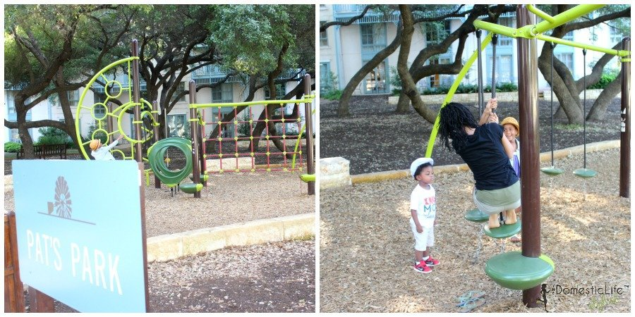 pat's park playground at hyatt hill country