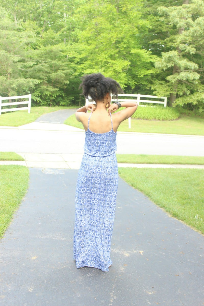 blue and white lucy maxi dress