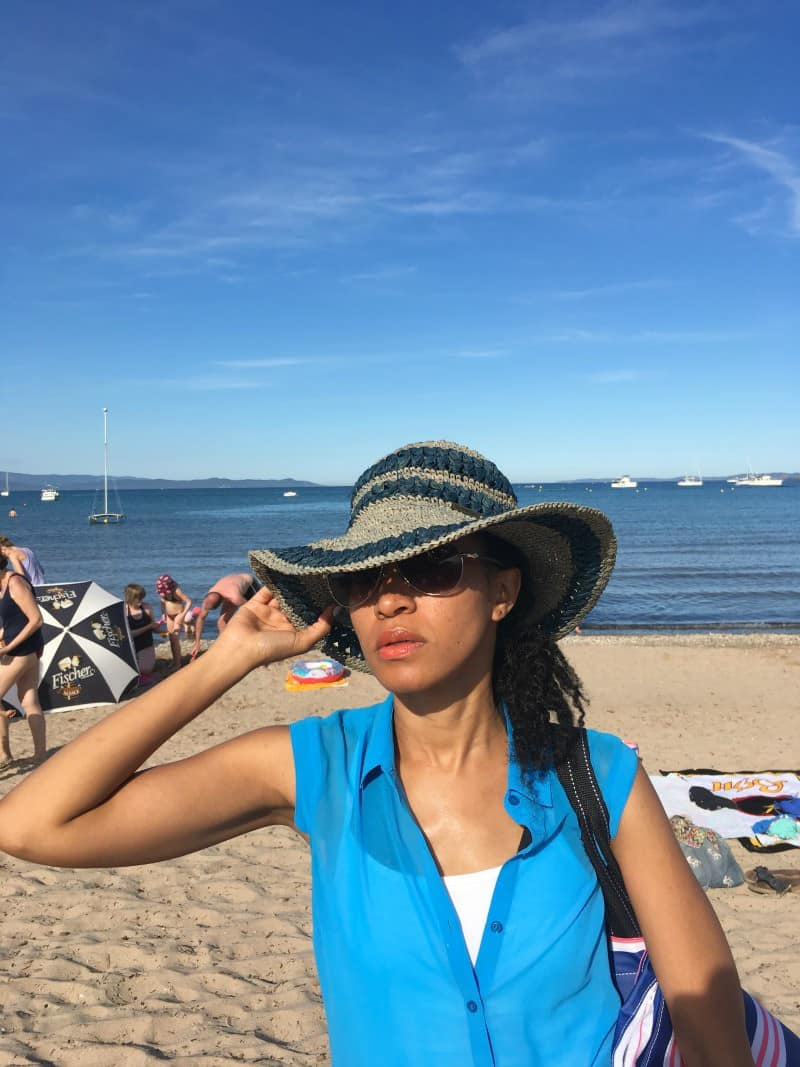 sunhat on beach