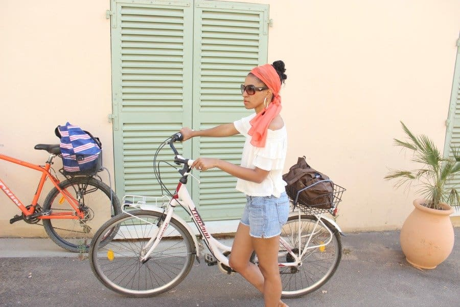 fashionably riding a bike 4