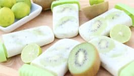 Creamy Kiwi Key Lime Popsicles