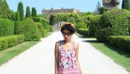 Florals & White Jeans at Chateau de la Napoule + Video