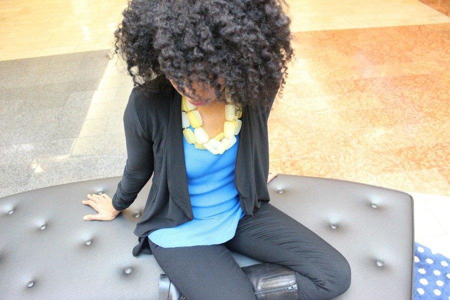 blue-inc-peplum-top-and-black-jeans