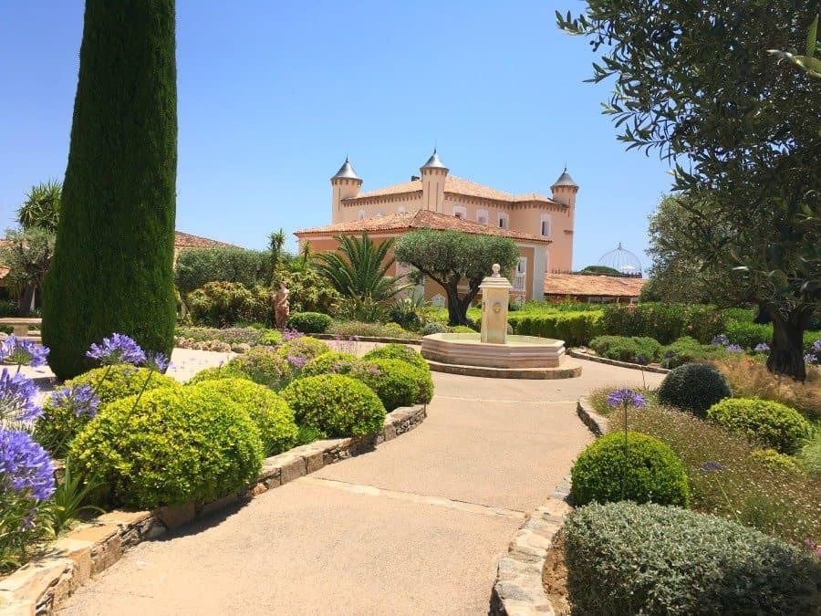 grounds of chateau de la messardiere
