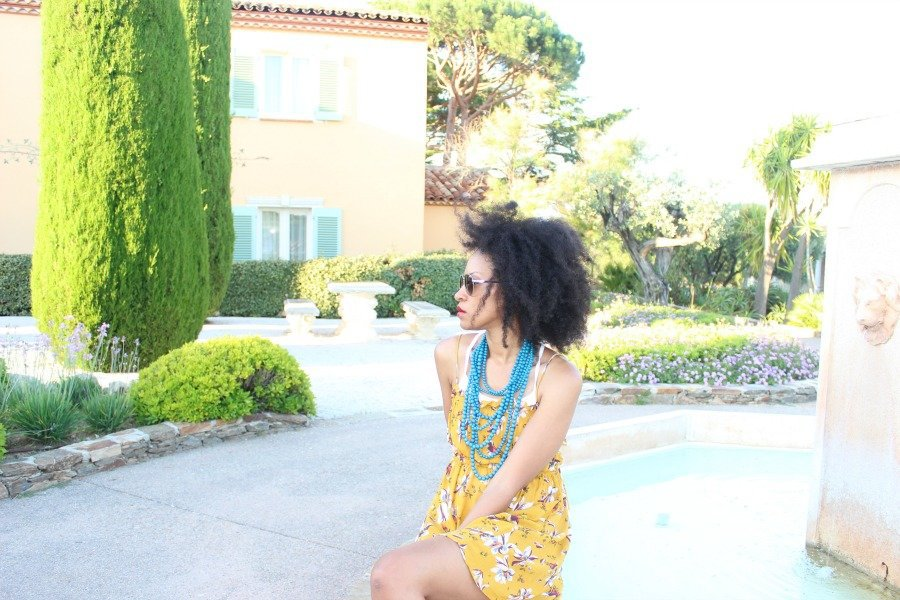 mustard short sleeve dress free people chateau de la messardiere